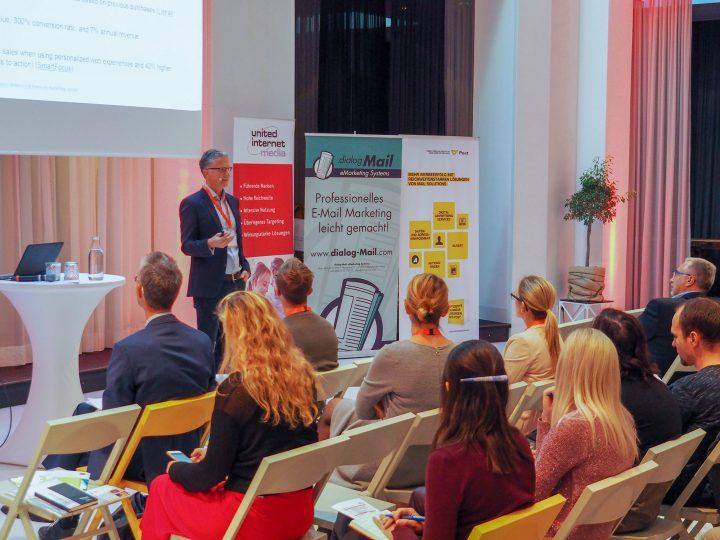 Torsten Schwarz, eigens aus Deutschland angereister E-Mail-Marketing-Guru und Autor von mehr als 20 Fachbücher, hielt die Opening Keynote der JETZT E-Mail © Jetzt Konferenzen/MOMENTUM Wien